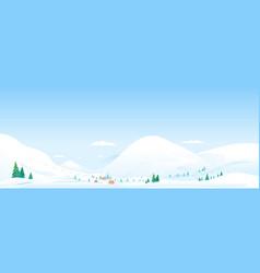 mountain ski resort landscape background vector image