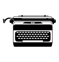 office typewriter icon simple style vector image