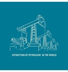 Oil pump vector image vector image