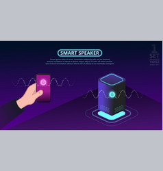 Personal assistant smart speaker with title voice vector