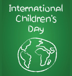 poster design for international childrens day vector image