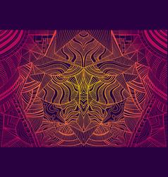 Psychedelic trippy colorful fractal mandala vector