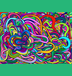 rainbow color colorful psychedelic crazy abstract vector image
