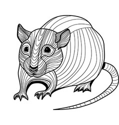 Rat or mouse head animal vector