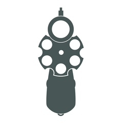 Retro gun front view vector