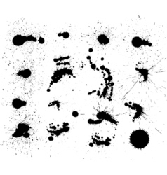 Set of dark blots on the white background vector