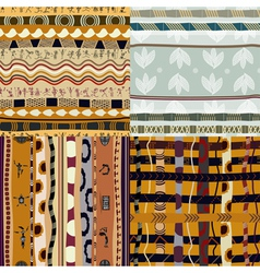 Set of seamless of African vector image