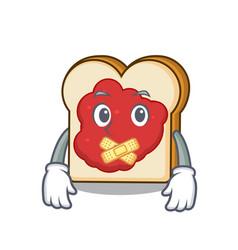 silent bread with jam mascot cartoon vector image