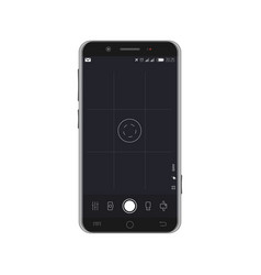 Smartphone with camera overlay vector