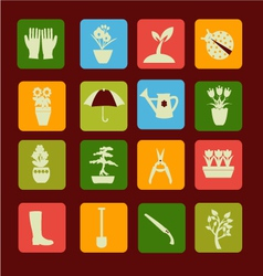 Spring symbol gardening and vector