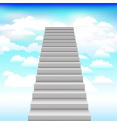 Staircase into sky background vector