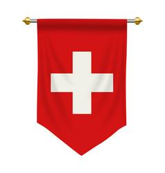 Switzerland pennant vector