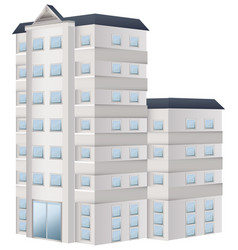 tall building painted in white vector image