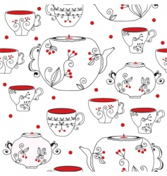 tea pots vector image