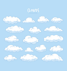 variety sky clouds set vector image