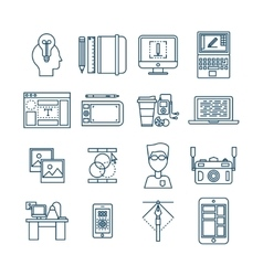 Web Design Linear Icons vector