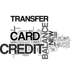 what to look for in a balance transfer credit vector image