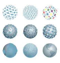 abstract blue balls vector image