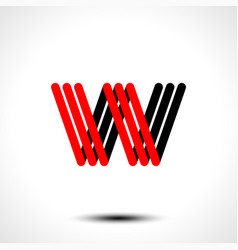 abstract icon based on the letter w vector image vector image