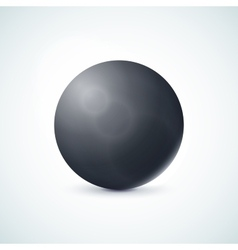 Black glossy sphere isolated on white vector image vector image