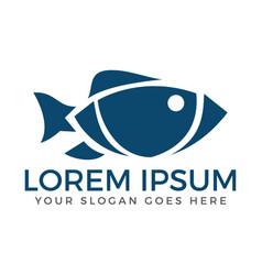 fish logo design vector image vector image