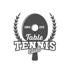 ping pong emblem label badge and designed vector image