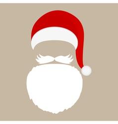Santa Claus cap beard and mustache vector image vector image