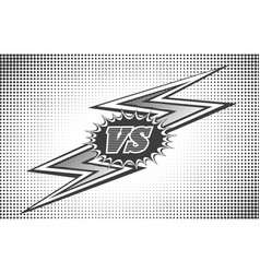 versus letters background in retro style vector image vector image