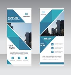 Business Roll Up Banner flat design template Abst vector image