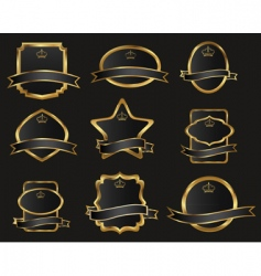 gold frames vector image vector image