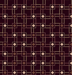 The pattern of colored squares diamonds vector image vector image
