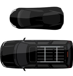 Two black cars vector image vector image