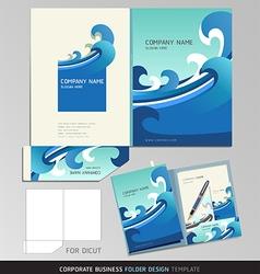 Corporate Identity Business Set Folder Design Temp vector image