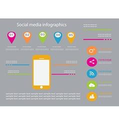 infographic elements color set vector image