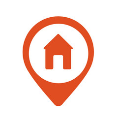 real estate red pin symbol vector image