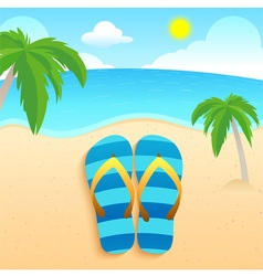slippers Beach and Coconut vector image vector image