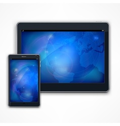 Tablet on white vector image vector image