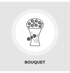 Bouquet of flowers flat icon vector image vector image