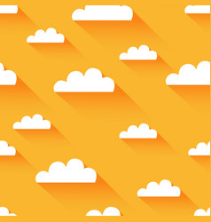 clean flat cloud modern background vector image vector image