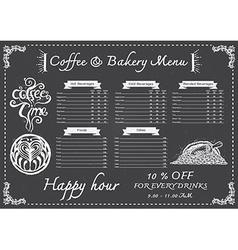 Coffee menu on chalkboard vector