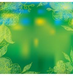 flower orshid background frame 1 vector image vector image