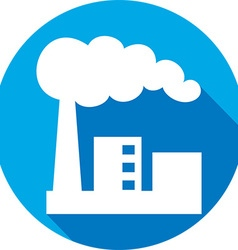 Industrial Factory Icon vector image vector image