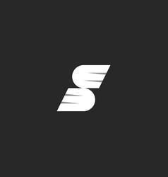 logo s letter winged symbol simple creative idea vector image