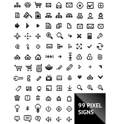 pixel web icons vector image vector image