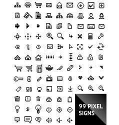 pixel web icons vector image