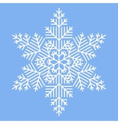 Simple White Snowflake vector image vector image