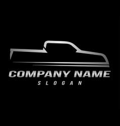 sport truck logo black background vector image vector image