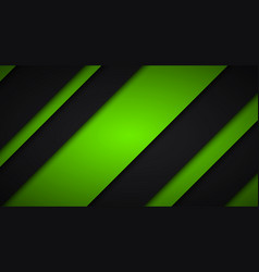 Abstract black and green background diagonal vector