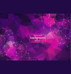 Abstract purple geometric polygonal background vector