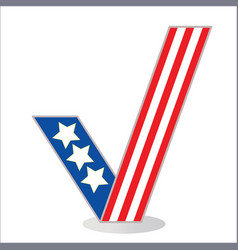 american flag tick symbol vector image